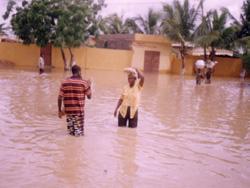 Inondation dans un cartier à Lomé